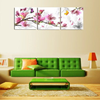 30x30cm Frameless 3pcs Flower Oil Painting Printed On Canvas Home Decorative Art Picture - Intl