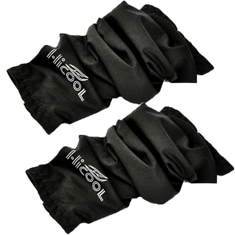 OEM Bicycle Golf Basketball Sun Protection Arm Sleeve Arm Cooler ปลอกแขน HI-COOL กันแดด-ป้องกัน UV (Black)