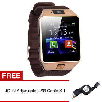 Jo.In Bluetooth DZ09 Android Call Reminder Smart Watch (Gold)