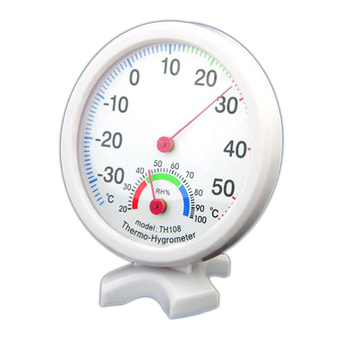 White Indoor Outdoor Wet Hygrometer Humidity Thermometer Temp Temperature Meter (Intl)