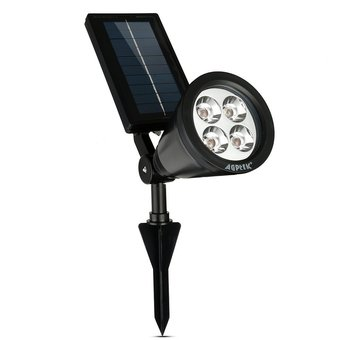 Welink Solar Waterproof 4 LED Solar Outdoor Lighting (Black) - Intl