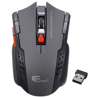 2.4Ghz Mini portable Wireless Optical Gaming Mouse Mice For PC Laptop Gray