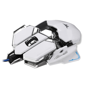 Combaterwing Programmable 10 Buttons Combaterwing 4800 DPI Optical Wired Professional Gaming Mouse, White - Intl