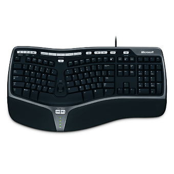 Microsoft Natural Ergonomic Keyboard 4000 (ไทย - อังกฤษ Keyboard) - Black