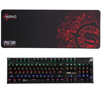 SIGNO E-Sport Spectrum Mechanical Gaming Keyboard รุ่น INCUBUS KB-789 + SIGNO E-Sport PROCYON Gaming Mouse Mat รุ่น MT-312S (Speed Edition)