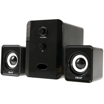 OKER ลำโพง USB Multimedia Speaker Micro 2.1 650W SP-835(สีดำ)