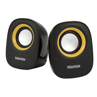 Macnus USB Mini Speaker 2.0 Channel รุ่น ADL-005 (Black/Orange)