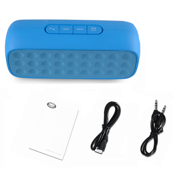 Vococal Bluetooth Portable Water Cube Shape Wireless Music Player Mobile Stereo Active Subwoofer Speaker Blue