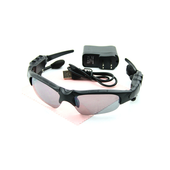 Wireless Bluetooth Sunglasses Stereo Headset MP3 Player ( Black )