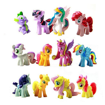Jetting Buy Figurines Playset for My Little Pony Kids Gift 12 Pcs