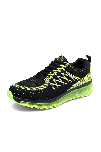2016 new men sneaker breathable running shoes fashion air max sport shoes unisex (Black) (Intl)
