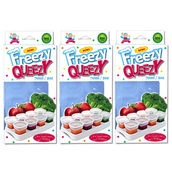 Alpha Baby FREEZY QUEEZY 2OZ BABY CUBES 3 PACK ( WHITE )