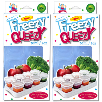 Alpha Baby FREEZY QUEEZY 2OZ BABY CUBES 2 PACK (WHITE )
