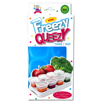 Alpha Baby FREEZY QUEEZY - 2OZ BABY CUBES (BLUE)