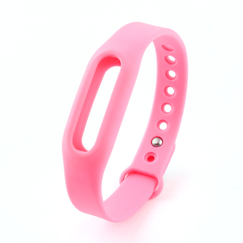 Replacement Wrist Strap Wearable Rubber Wrist Band for Xiaomi MIBand Bracelet(Pink)