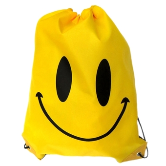 Swimming Drawstring Beach Bag Sport Gym Waterproof Backpack Duffle Smile Yellow (Intl)