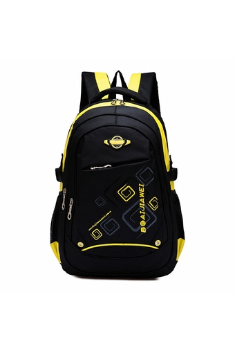 Waterproof School Bookbag Travel Hiking Backpack Yellow (Intl)