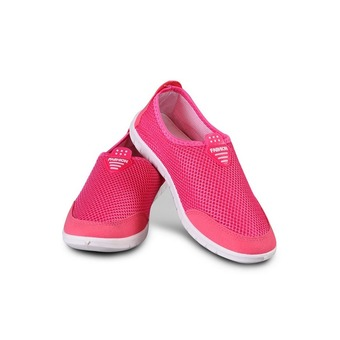 Womens Breathable Mesh Soft Running Sport Walk Outdoor Shoes (Pink)