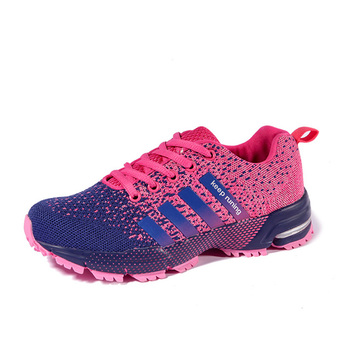 Sport Lovers shoes fly line women running shoes (Pink) (Intl)