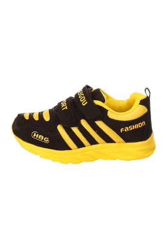 Eozy Children Sports Shoes Kids Sneakers Boys Girls Comfortable Vogue Child Trainers Korean Running Shoe Size 27-34 (Yellow) (Intl)