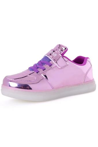 YINGLUNQISHI Children Roller Shoes LED Lighted Flashing Kids Fashion Sneakers (Purple) - INTL