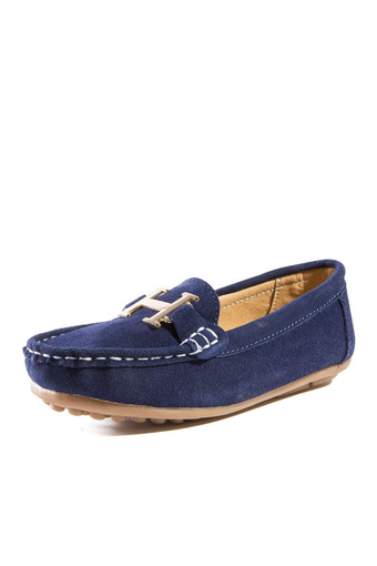PINSV Boys Casual Loafers Shoes (Navy) (Intl)