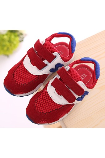 Kids Fashion Light Weight Running Athletic Casual Sneakers Shoes (Red) - Intl