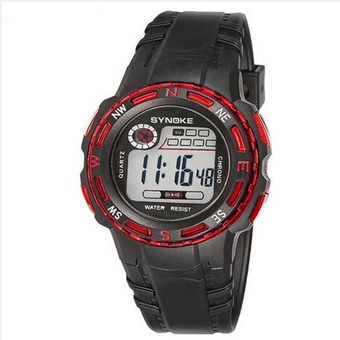 Synoke 99539 High Quality Students Unisex Sport Wristwatch 30m Waterproof Life Red