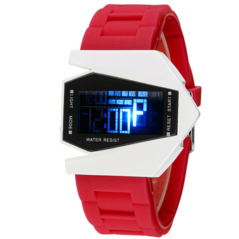 High Quality SYNOKE Cool Watch Plane Digital Watch Men Wrist watches SS80001 Red (Intl)
