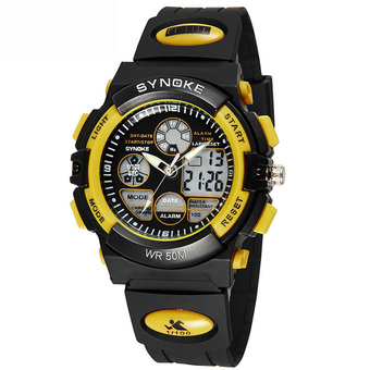 Student Watches Sports Digital Watch for Boys 99266-Yellow (Intl)