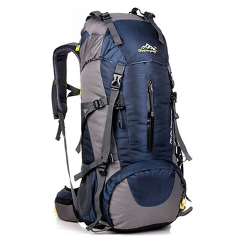 360DSC Large Capacity 50L Outdoor Sports Backpack Waterproof Climbing Shoulder Bag Rucksack 0972 (Dark Blue)