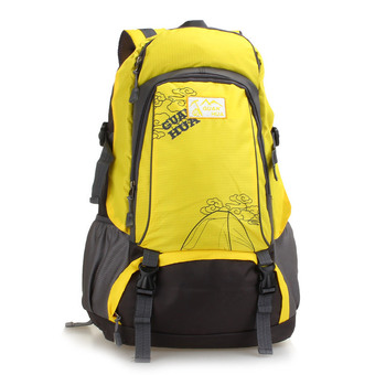 Outdoor sports bag men and women large backpack yellow - Intl