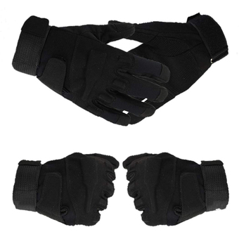 Sunweb Blackhawk Tactical Gloves Army Full Finger Gloves Airsoft Combat Gloves Hunting Training Motorcycle Camping Gloves ( Black ) (Intl) ร้านค้าดี ราคาถูกสุด - RanCaDee.com