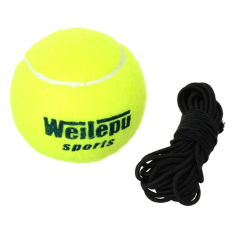 Tennis Sports Trainer Training Ball w/ Rubber Rope - Fluorescent Yellow - INTL