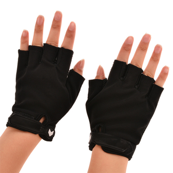 Sunweb Sport Fitness Cycling Gloves Half Finger Glove Weightlifting Gym Gloves For Men And Women ( Black )