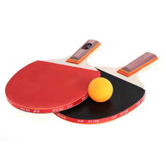 Pair Table Tennis Ping Pong Racket Paddle Bat with 3 Balls Outdoor Sports (Intl)