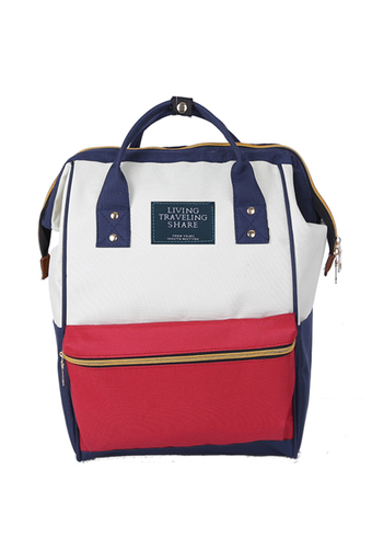 BEST Japan Women Bag Backpack กระเป๋าเป้สะพายหลัง - White/Red