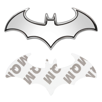 Universal Car Styling Batman 3D Metal Stickers Decals Auto trunkBadge Emblem Logo Stickers(Silver)- Intl