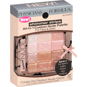 Physicians Formula Shimmer Strips Custom All-in-1 Nude Palette for Face & Eyes #NATURAL NUDE