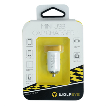 CAR CHARGER WOLFEYE CR210 MIXED