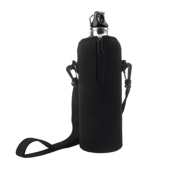1000ML Water Bottle Bag Black (Intl)