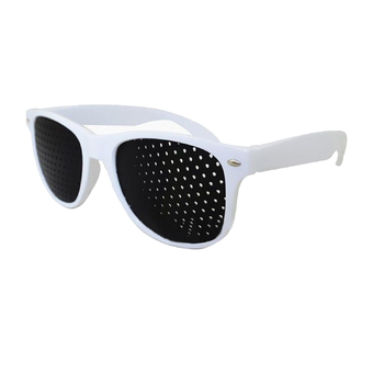 Eyes Exercise Pinhole Glasses Vision Eyesight Eyewear Improve Care Healing Black + White (Intl)