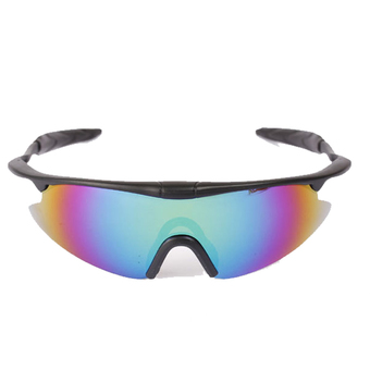 XINTOWN 3PC Unisex Cycling Wind Proof Sports Glasses Sunglasses (Colorful)