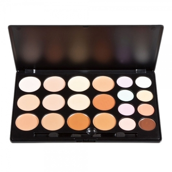 20 Color Professional Makeup Concealer Camouflage Eyeshadow Palette (Random Brush) (Intl)