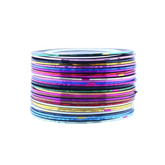 New 30Pcs Mixed Colors Nail Art Striping Tape Line Decoration Sticker (Intl)