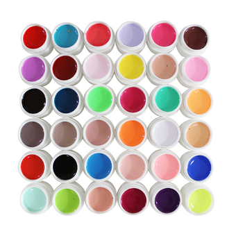 36 Colors UV Gel Pure Mix Color for Nail Art DIY Set Accessories