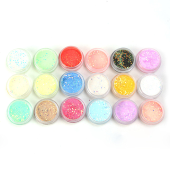 Cocotina Glamour UV Gel Acrylic DIY Nail Art Decorations Tips Glitter Power Sequins 18 Colors- INTL
