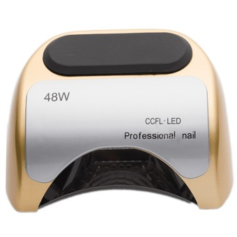 Professional Nail Dryer CCFL with LED Lamp Automatic 48W Curing for UV Gel Nail Polish EU Plug (Gold)