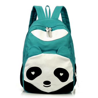 Fashion Cute Panda Casual Women Kids School Shoulder Bag Backpack Rucksack Blue (Intl)