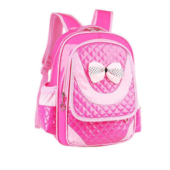 Children Shoulder Bags Backpacks Schoolbag For Primary Girl Hot Pink